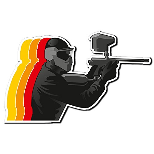 2 x 30cm/300mm Paintball vernice pistola a sfera auto adesivo vinile adesivo da viaggio per portatile auto bagagli iPad segno divertimento #4034