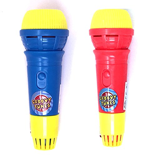 Echoes Kid Toy Microphone for Kids by Laeto Toys Single or Box of Microphones Echo Mic Mics Toddler Party Bag Christmas Stocking Filler Fillers (2 Unit)