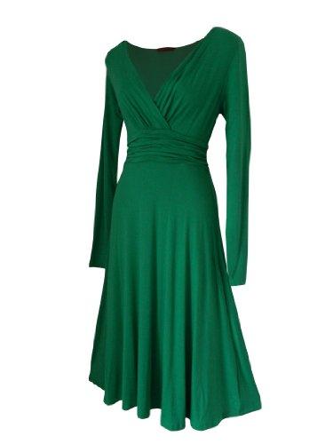 Robe Femme Sexy STYLE VINTAGE ,élégante/Robe de cocktail ,robe à manches longues, Disponible en différents coloris,Taille 36 - 52 Vert
