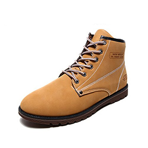 Men's High Atmospheric Fashion Leather Shoes Kaki
