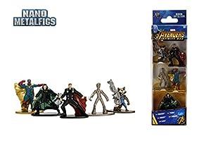 Jazwares-Nano metalfigs-Marvel Avengers Infinity War-Pack de 5Figuras de 4cm (Thor, Rocket, Teenage Groot, Loki, Vision), 99920
