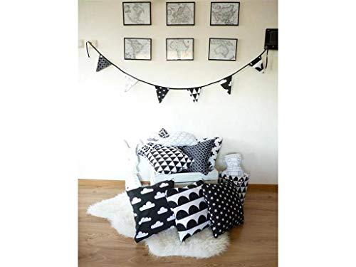 Kissen, dekorative Kissenbezug, Kissen, Akzentkissen Couch Kissen, weiß. Kissen, schwarz und weiß, skandinavischen Stil -