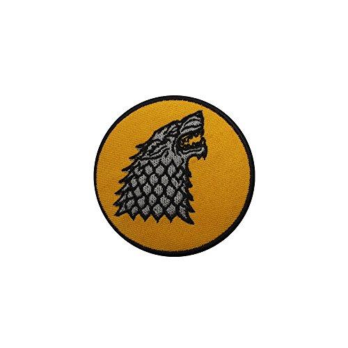 Juego Tronos Casa Stark Direwolf hierro Sew bordado