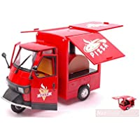 "NEW RAY NY68043R APE PIAGGIO 50 STREET FOOD ""PIZZA"" 1:18 MODELLINO DIE CAST"