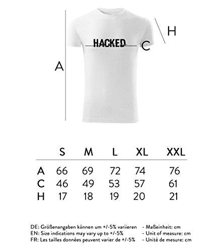 Herren Hacker Hecken Shirt schwarz & weiß Motiv - T-Shirt Poloshirt mit Motiv - Neu S- XXL Weiß