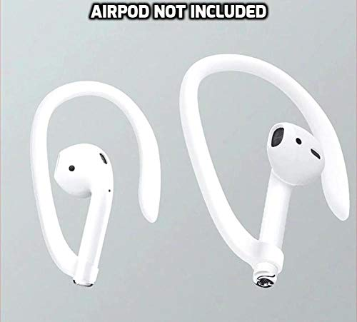 DEALPICK Protective Earhooks Holder Secure Fit Hooks for Airpods Apple Wireless Earphone Accessories White Image 3