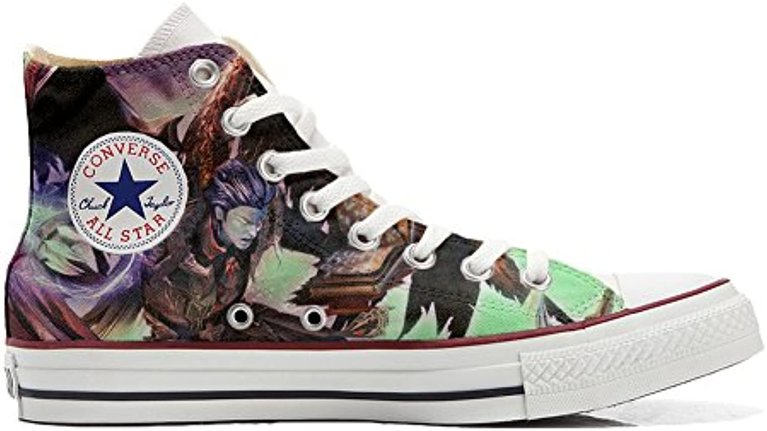 Converse All Star Hi Customized personalisierte Schuhe (Handwerk Schuhe) Demon style