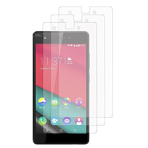 VComp-Shop® 3x Transparente Bildschirmschutzfolie für Wiko Pulp 4G - TRANSPARENT