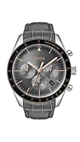 Hugo Boss Watch Reloj Cronógrafo para Hombre de Cuarzo con Correa en Cuero 1513628