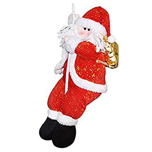 Semoic decorazione natalizia babbo natale arrampicata su corda per interni/esterni parete finestra appesa ornamento di natale