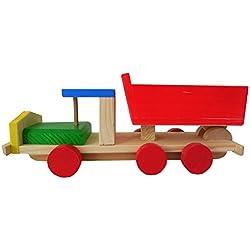 Juguete De Madera Para Niños Volquete Camión Con Caja Movil