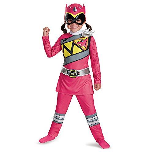 Disguise Power Rangers pink für Mädchen 104/116 (4-6 -