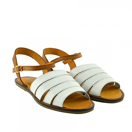 Kick Footwear - Damen Mode Sommer Casual Sandalen Classic Schuhe Weiß