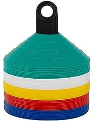 Optimum - Conos de entrenamiento (50 unidades, plástico), varios colores