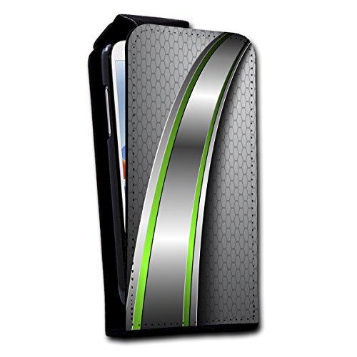 Flip Style vertikal Handy Tasche Case Schutz Hülle Foto Schale Motiv Etui für Apple iPhone 5 / 5S - V1 Design11 Design 12