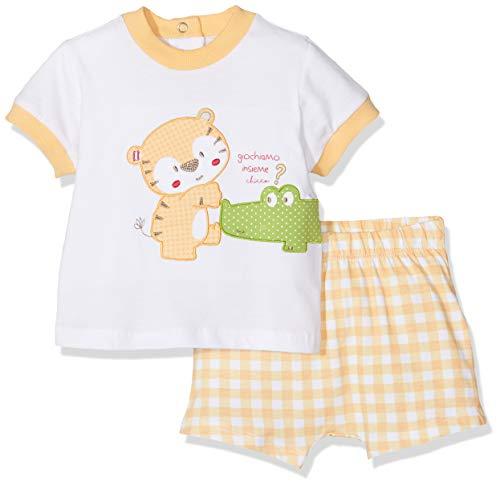 Chicco Completo T Shirt Manica Corta e Pantaloncini Tutina Unisex Bimbi