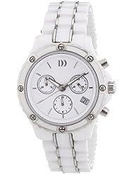 Danish Design - 3324475 - Montre Femme - Quartz Analogique - Chronomètre - Bracelet Céramique Blanc