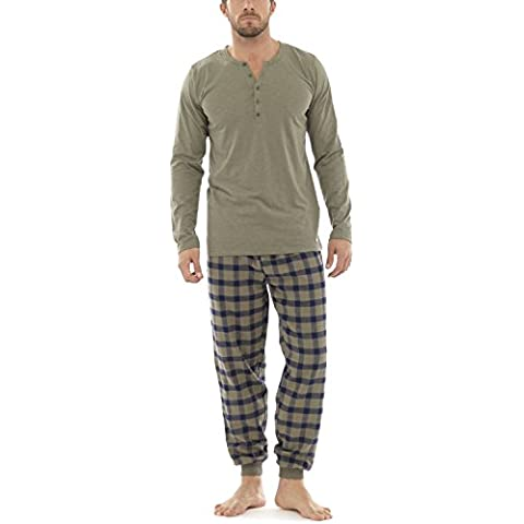 Wolf & Harte da uomo in flanella, a quadri, maglia & Pantaloni pigiama