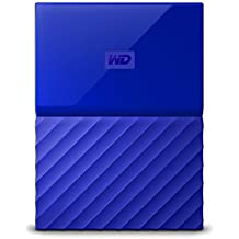 WD My Passport 4TB - Disco duro portátil y software de copia de seguridad automática para PC, Xbox One y PlayStation 4 - azul