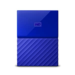 WD My Passport 2 TB Portable Hard Drive and Auto Backup Software for PC, Xbox One and PlayStation 4 - Blue