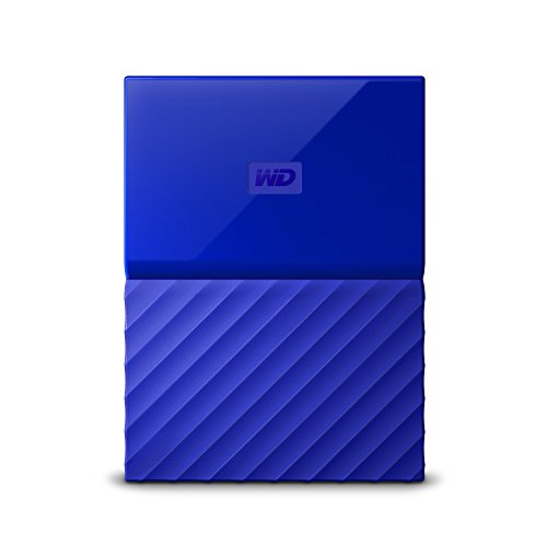 WD My Passport 4TB - Disco duro portátil y software de copia de seguridad automática para PC, Xbox One y PlayStation 4 - azul