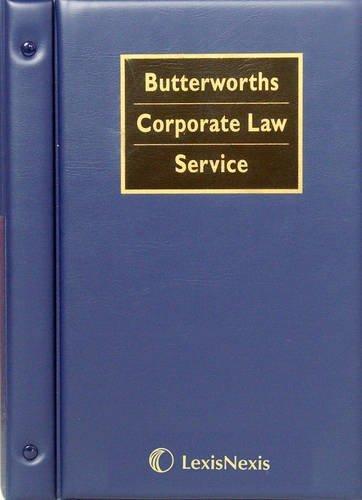 Butterworth's Corporate Law Service by Brenda Hannigan (1999-09-24)