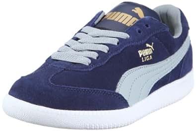 Puma Liga Suede 341466, Unisex - Erwachsene Sportive Sneakers, Blau (medieval blue-quarry-white 67), EU 42 (UK 8) (US 9)