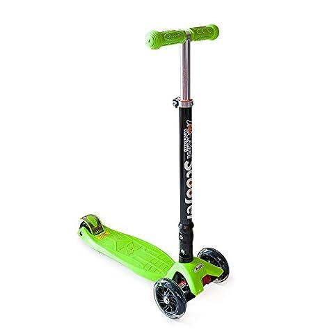 Kenrod Kinderroller 3 Räder für Kinder zwischen 2 und 14 Jahren mit Design Scooter Led Räder ohne Batterien Leicht Demontieren