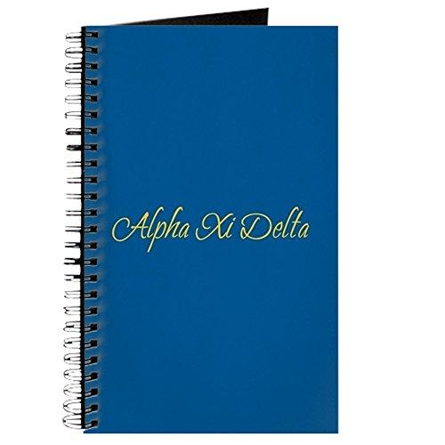 CafePress–Alpha XI Delta Sorority Name in gelb kursiv Let–Spiralbindung Journal Notizbuch, persönliches Tagebuch, - Sorority Delta Geschenke Delta Delta