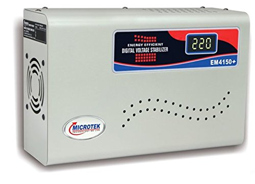 Microtek Em4150+ Digital Voltage Stabilizer (150-280v) (upto 1.5ton Ac)