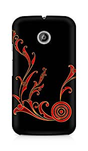 Amez designer printed 3d premium high quality back case cover for Motorola Moto E (Abstract Dark 11)