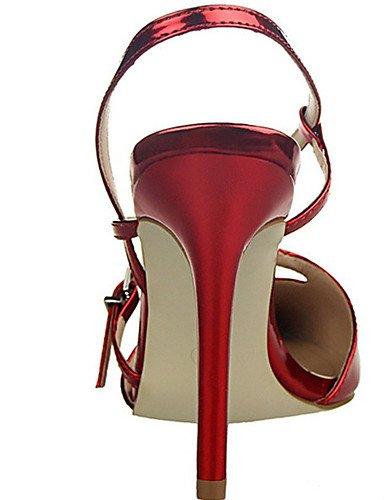 WSS 2016 Chaussures Femme-Décontracté-Noir / Rouge / Blanc / Argent / Or / Champagne-Talon Aiguille-Talons-Talons-Polyuréthane silver-us5 / eu35 / uk3 / cn34