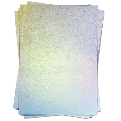 Briefpapier Design-Motiv REGENBOGEN Struktur, bunt - 50 Blatt, DIN A4 Format - Papier beidseitig bedruckt