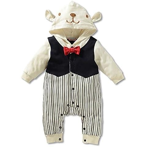 Tkria Moda recién nacido Romper largos ropa de niño de la manga del