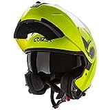 Cruizer Casco modular homologado para moto y Scooter de alta visibilidad con doble visera y parasol...