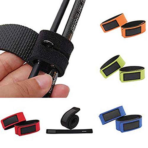 LIANAN IRWIN 5/10 Stück Neopren Rutenbänder Spanngurte For fish Tackle Pole Holder elastisch Wrap (5 Stück (zufällig in Farbe verschickt))