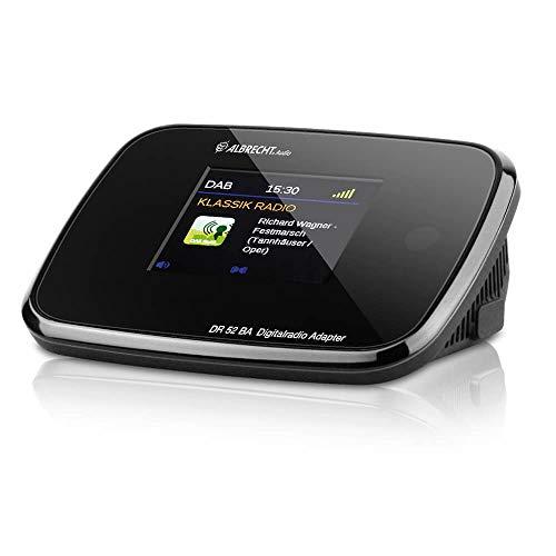 Albrecht 27255 DR 52 BA DAB+/UKW-Radio-Adapter mit Bluetooth und Farbdisplay, Antennenbuchse,...