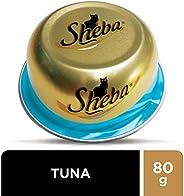 SHEBA Tuna Domes Cat Food, Multipack, 24 x 80g