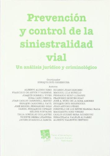 Portada del libro Prevención y control de la siniestralidad vial