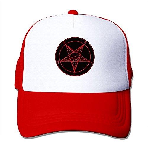 Satanic Symbol Star Mesh Trucker Caps/Hats Adjustable for Unisex Black
