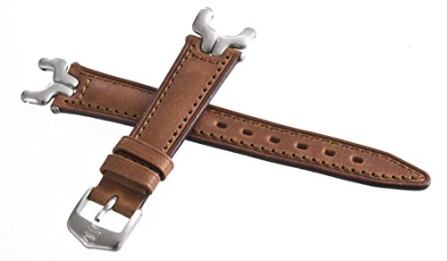 Tag Heuer Sel cinturino in pelle marrone argento Link Watch Band 18mm