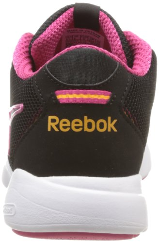 Reebok Fitnisflare 2, Scarpe sportive indoor donna nero (Noir (Black/White/Candy Pink/Orange))