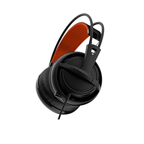 Liutao-Headphones E-Sports-spezifisches Gaming-Headset mit einziehbarem Ohrenschützer aus Leder schwarz -