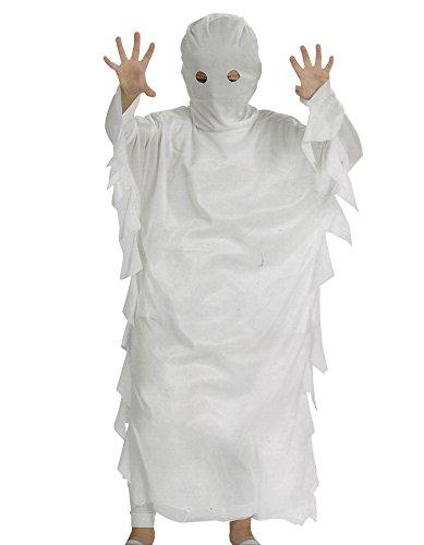 Geist Kinder Halloween Karneval Kostüm Gespenst Horror Geisterkostüm (140) (Geister Kostüme)