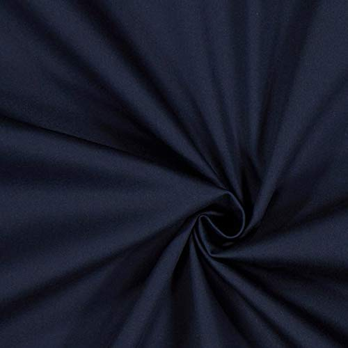 Fabulous Fabrics Baumwollsatin Stretch - Navy - Meterware ab 0,5m - zum Nähen von Businesskleidung und Hosen