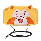 FYY Casque Filaire Enfants Ultra Mince Haut-Parleur Facile Réglable Écouteurs Bandeaux en Polaire Doux pour Enfants Lion de Mer
