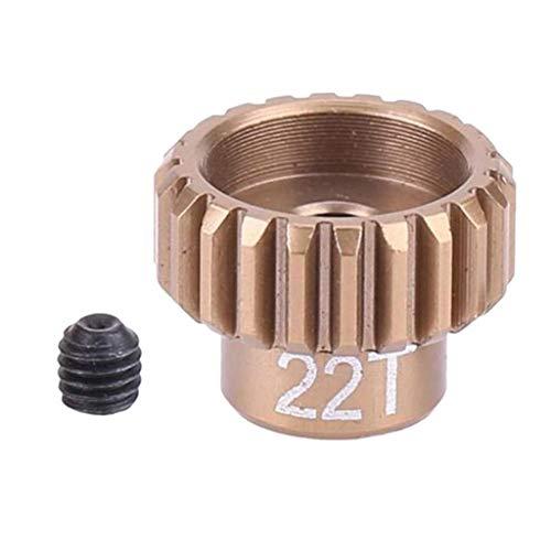 Hellery Motor Ritzel 19T Metall 48P Stirnradgetriebe Für Sakura 1:10 RC Drift Car-CS S XIS D4 - 22T -
