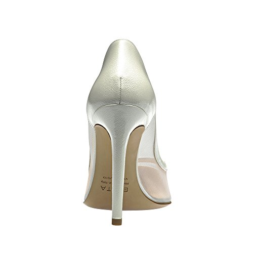 Evita Shoes MIA Escarpins Femme Cuir Verni Imprimé Blanc