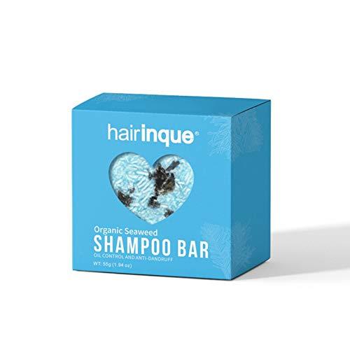 Allouli Organic Hair Shampoo Bar Handmade Soap Hair Loss Treatment Deep Clean Scalp Also for Body Face Shave Soap -
