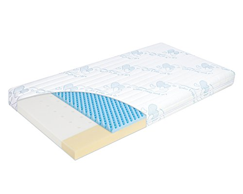 Julius Zöllner Kinderbettmatratze Babymatratze Traumfänger Premium | 70 x 140 x 10 cm | trittfeste Kanten | abnehmbarer Bezug und waschbar | Allergiker geeignet